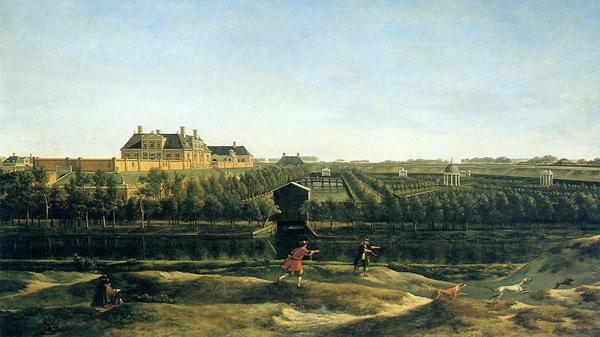 Gerrit Berckheyde (1638 - 1698) Blik op landgoed Elswout in Overveen